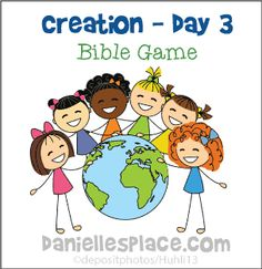 Bible Game for Creation Day 3 Sunday School Lesson from www.daniellesplace.com