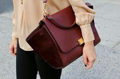 Burgundy Celine bag
