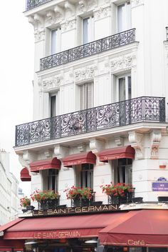 Le Saint-Germain on Saint Germain Blvd. in Paris. #paris #cafe Paris Cafe, Paris Paris, Paris Home Decor, Paris Travel, Photographic Prints, Fine Art Photography, Etsy Seller, Saint Germain, City