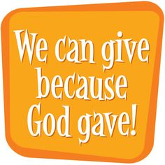 We can give because God gave! #veggietales