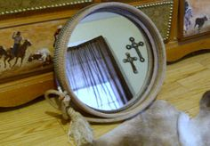 Western Rope Mirror by USpur on Etsy, $65.00