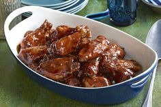 Love sweet and sticky chicken wings? Prep and forget these saucy chicken wings while they simmer to tender perfection.