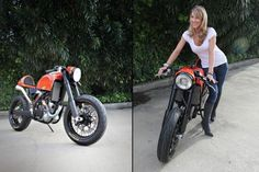 KTM turned cafe racer - KTM 525EXC.. I think there's a motorcycle somewhere in the picture...