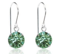 Mint Single Crystal Drop Earrings - $9.80
