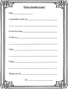 Eens wat anders dan zo'n vriendenboekje: een goodbye letter