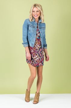 Allison Joy Josie Tunic Dress and Kut from the Kloth Denim Jacket