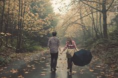Walk under the rain with someone I adore....