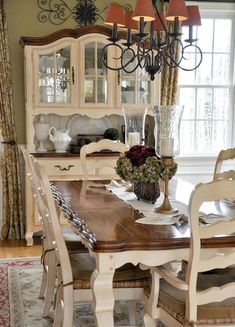 Bay Window Farmhouse Table Bench And Different Chairslove It Cool French Word For Dining Room Review
