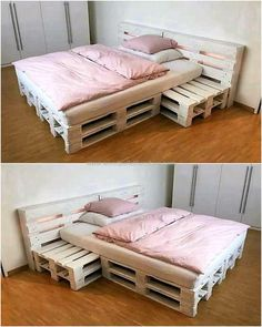 simple bed made with pallets #palletfurniturebeds