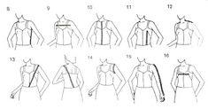 Belajar Membuat dan Menjahit Busana: Ukuran dan cara mengambil ukuran pada badan wanita...