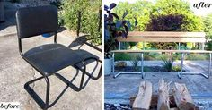 Chair to bench conversion #Bench, #Chair