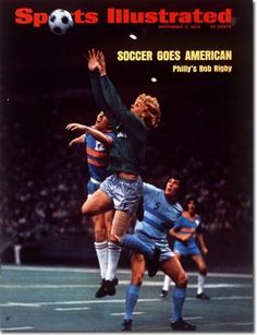 1973 SI cover featuring Kyle Rote Jr. (Dallas Tornado) and Bob Rigby (Philadelphia Atoms) in NASL final in Irving's Texas Stadium.