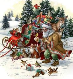 Woodland Santa by Heaven and Earth Designs - Cross Stitch Kits & Patterns