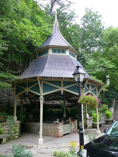 The entrance to Crescent Spring, Eureka Springs, Arkansas. One of several natural springs in this gorgeous mountain city.