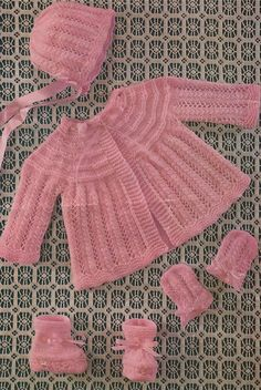 Knitting Patterns Vintage Baby matinee coat vintage knitting pattern 4 ply and double knitting yarn 19 - 20 inch chest PDF Ins. Knitting Baby Girl, Baby Cardigan Knitting Pattern Free, Baby Boy Knitting Patterns, Knitted Baby Cardigan, Knit Baby Sweaters, Knitted Baby Clothes, Baby Patterns, Mittens Pattern, Mantel Vintage