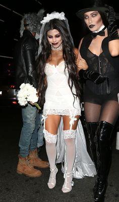 Kourtney Kardashian Dressed as a Bloody Bride for Halloween