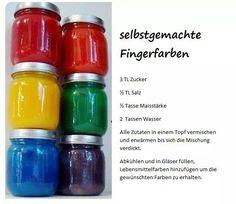 Fingerfarben selbst gemacht!