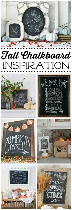 Lots of fall chalkbo