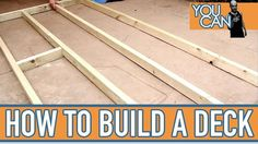How To Build A Small Deck Check out the full project https://www.youtube.com/watch?v=DJSWrv45vBA Don't Forget to Like Comment and Share! - http://ift.tt/1HQJd81
