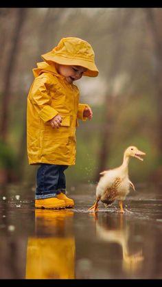 Having fun in the rain!