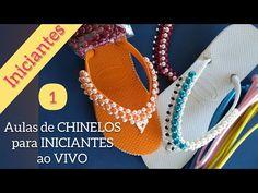 Aulas de CHINELOS BORDADOS ao VIVO (Aula 1) - Maguida Silva - YouTube