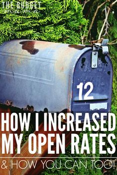 In order to increase my open rates, I had to make a major change with my email lists and I'm so happy that I did! I've not only increased my open and click rates but I've also increased my conversion rates as well!
