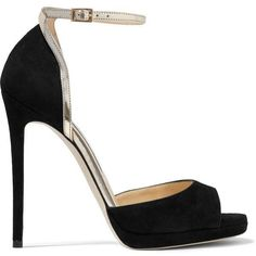 1dbd65412ec2 Jimmy Choo Pearl metallic leather-trimmed suede sandals (2