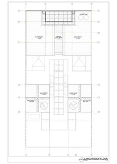 Static House,layout plan roof floor