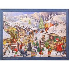 "Victorian Christmas Village Advent Calendar ~ 14"" x 10-5/8"""