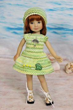 "Tiny Betsy McCall 5pc dress blue set Spring Bunny made 8/"" dolls"