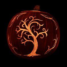Tree carved on a pumpkin. Repinned from Vital Outburst clothing vitaloutburst.com