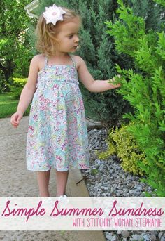 Simple Summer Dress Tutorial - with just a couple measurements, this can be made for baby to young child!