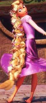 Rapunzel had probably never had her hair braided before this. She wouldn't know how to do it without being taught, and Mother didn't exactly give a darn.
