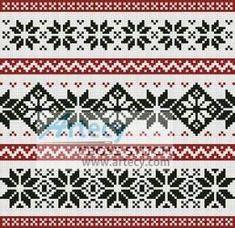 Nordic Cushion cross stitch pattern.