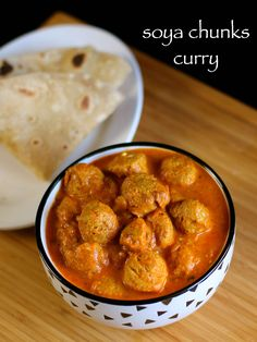 soya chunks curry recipe   soya bean curry recipe   soya bean recipe - http://hebbarskitchen.com/soya-chunks-curry-recipe-soya-bean-curry/