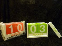 Keep track of the date with this colorful desk calendar