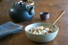 Creamy Amaranth Porridge with Asian Pears and Cinnamon