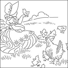 hand embroidery farm house patterns free download - Google Search