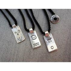 Babylonia zodiac silver necklace