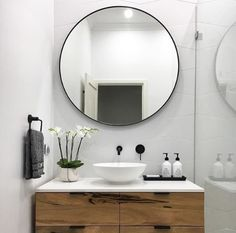 Beautiful Bathroom Mirror Ideas For a Small Bathroom, lovely bathroom mirror ideas are enjoyable, stylish and creative which is ideal for your bathroom. Laundry In Bathroom, Basement Bathroom, Bathroom Interior, Bathroom Wall, Master Bathroom, Laundry Rooms, Bathroom Sinks, Bathroom Storage, Bling Bathroom