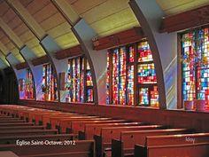 Claude Vermette mural, St Octave church, Montreal-Est Montreal, Visual Arts, Artist