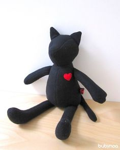 bubynoa Best Friend Ceci the Black Cat van bubyNoa op Etsy