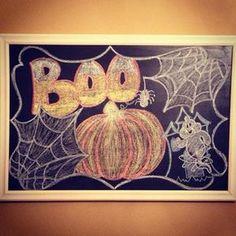 Created in His Image: Halloween Chalkboard Art