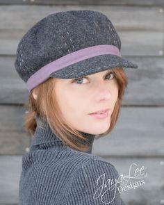 Strillone di lana cappello invernale grigio e di GreenTrunkDesigns