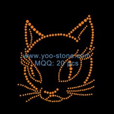 Best Selling Products! Yellow Cat Iron On Rhinestone Transfer