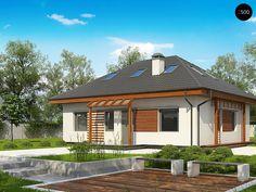 Общая площадь125,0 м²  Проект дома Z121_A это проект дома с мансардой, который отличается простотой и элегантностью.