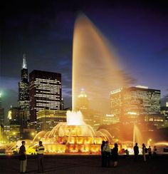 Buckingham Fountain, Chicago!   This is where i proposed to my beautiful wife!  Definately the most memorable place I've ever been!