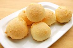Pão de Queijo.  The baking time is off in the written instructions at the bottom of the page -- use the 30-40min noted in the illustrated version.  Otherwise, fantastic.  I used and liked with wicked sharp cheddar, finely shredded.