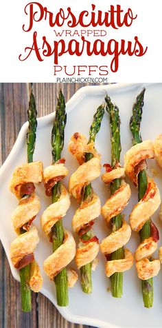 ... Asparagus, prosciutto, dijon mustard, parmesan cheese and puff pastry