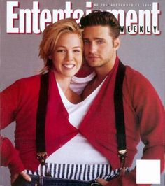 Entertainment Weekly cover used to announce Shannen Doherty's 90210 departure. Brandon and Kelly wear the traditional Brenda Walsh outfit. Beverly Hils, Jason Priestley, Addicted To Love, Jennie Garth, 90s Throwback, Shannen Doherty, Luke Perry, Fox Tv, Melrose Place